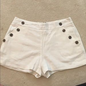 Side button nautical shorts